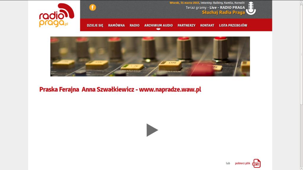 Audycja Radio Praga