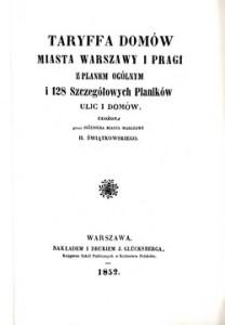 Taryffa domów miasta Warszawy iPragi