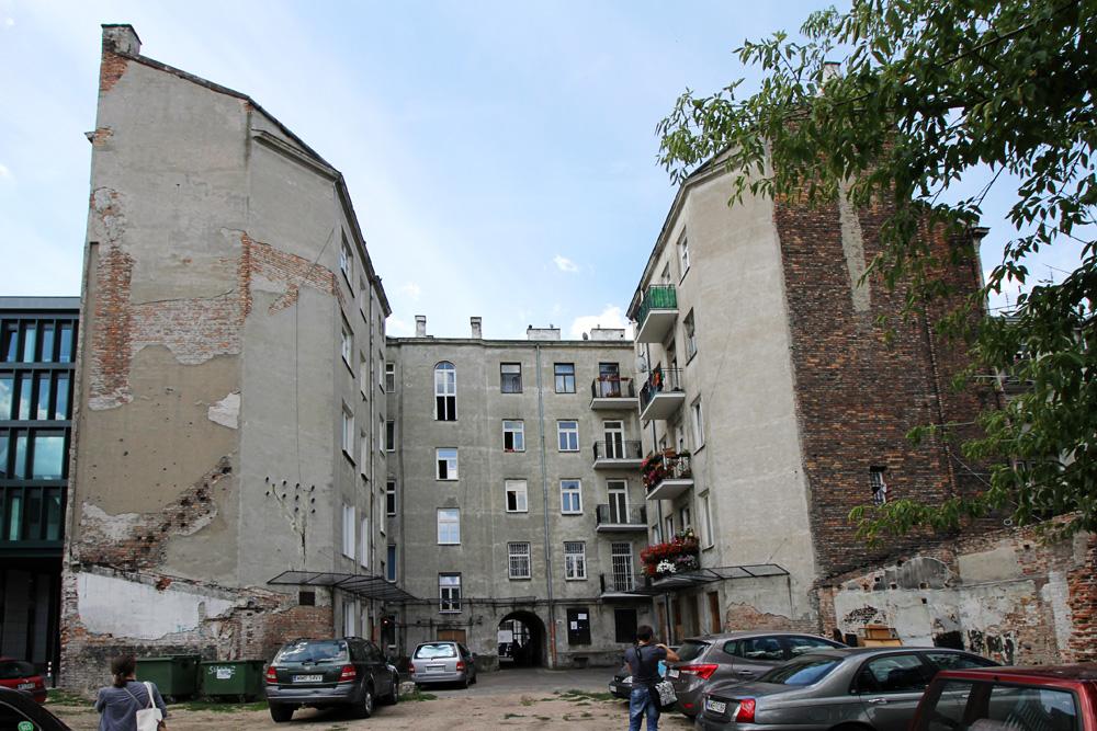 Brzeska 4 - widok od strony podwórza.