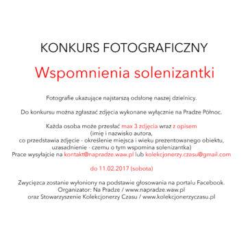 Konkurs fotograficzny Wspomnienia solenizantki