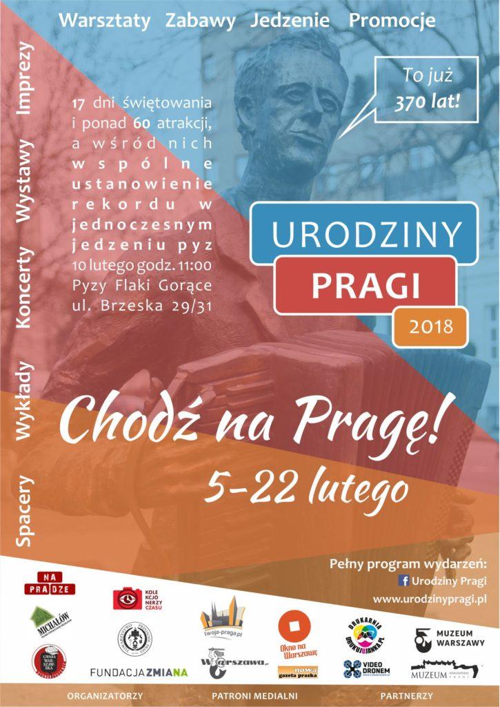 Plakat Urodziny Pragi 2018