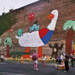 Mural Gęś ul.Brzeska 14a