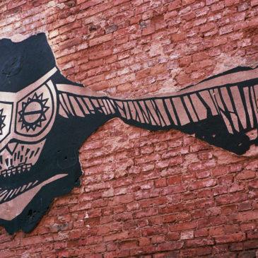 Mural Sowa ul.Tarchomińska 11