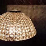 Przedwojenny kryształowy klosz dolampy