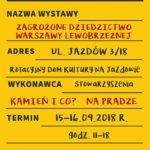 Wystawa Zagrożone dziedzictwo Warszawy lewobrzeżnej